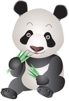 Panda clipart 熊猫. Free and vector graphics