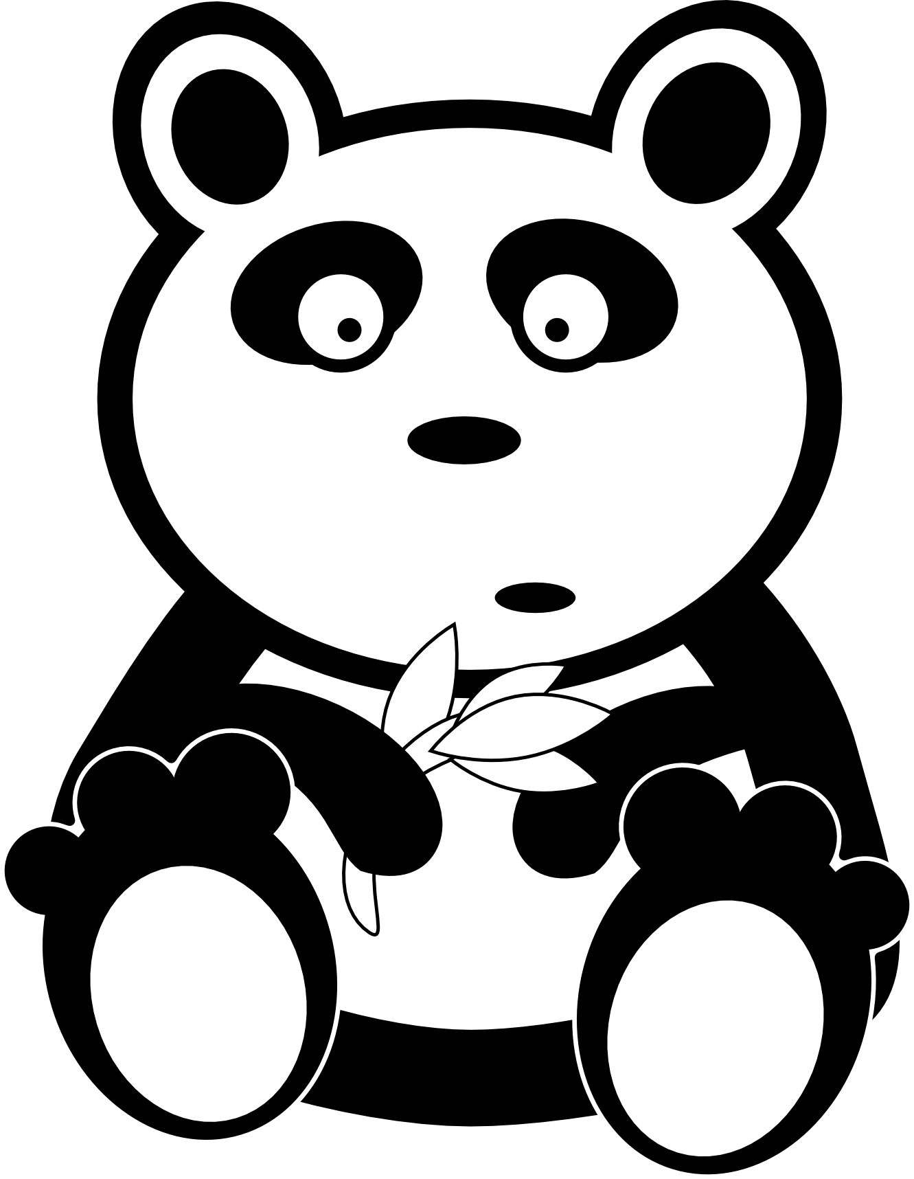Panda clipart big object. Free bear md download