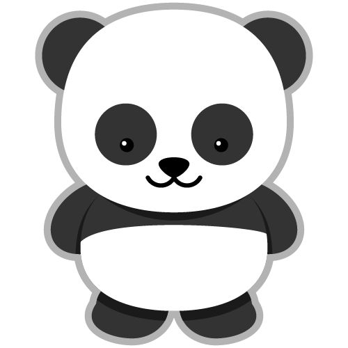 Panda clipart big object. Best cuties images