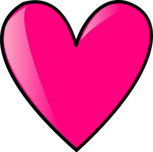 Panda clipart heart. Hot pink free images