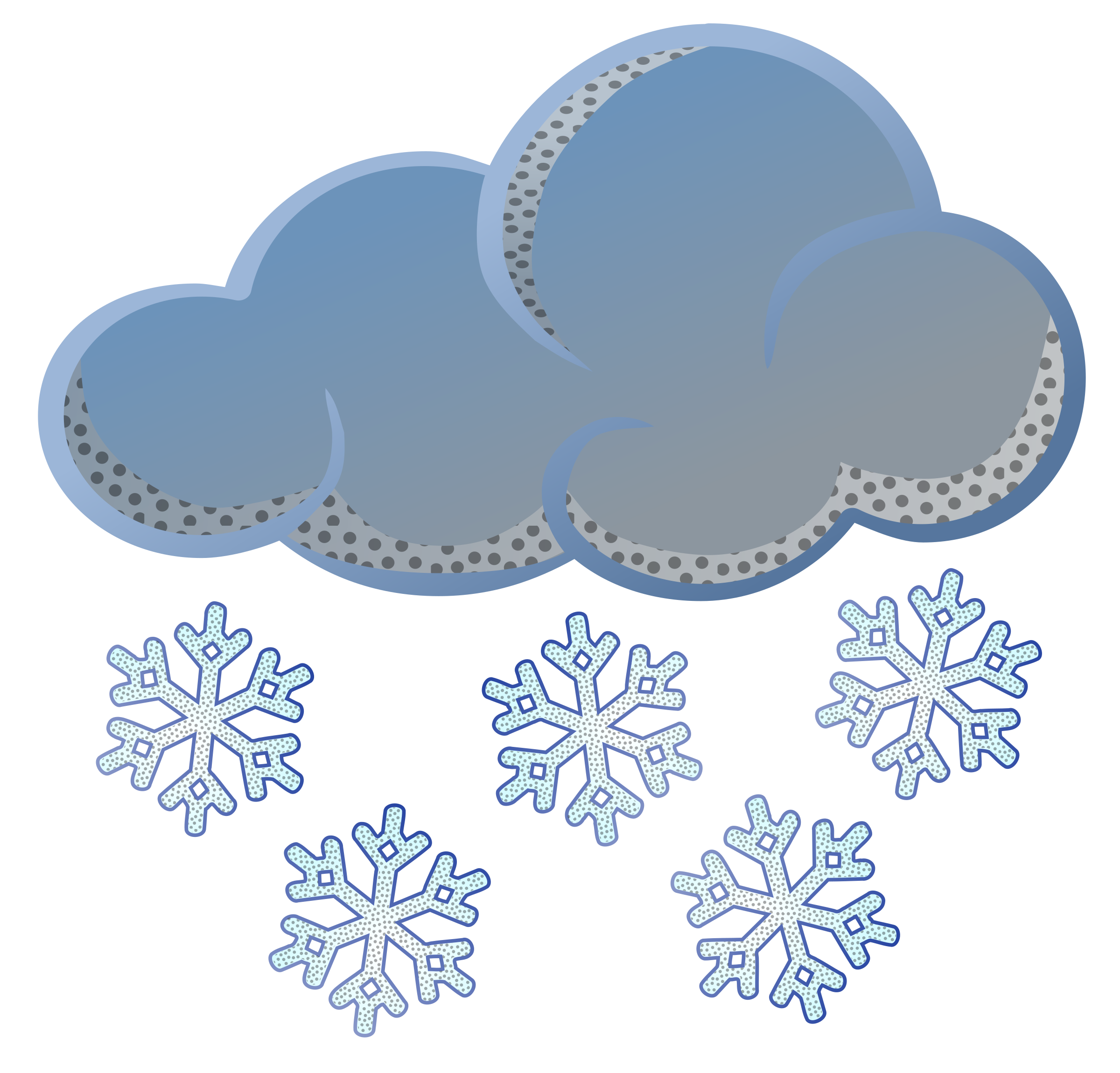 snowflakes clipart falling