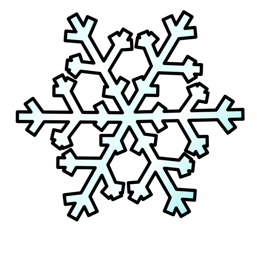 snowflakes clipart comic