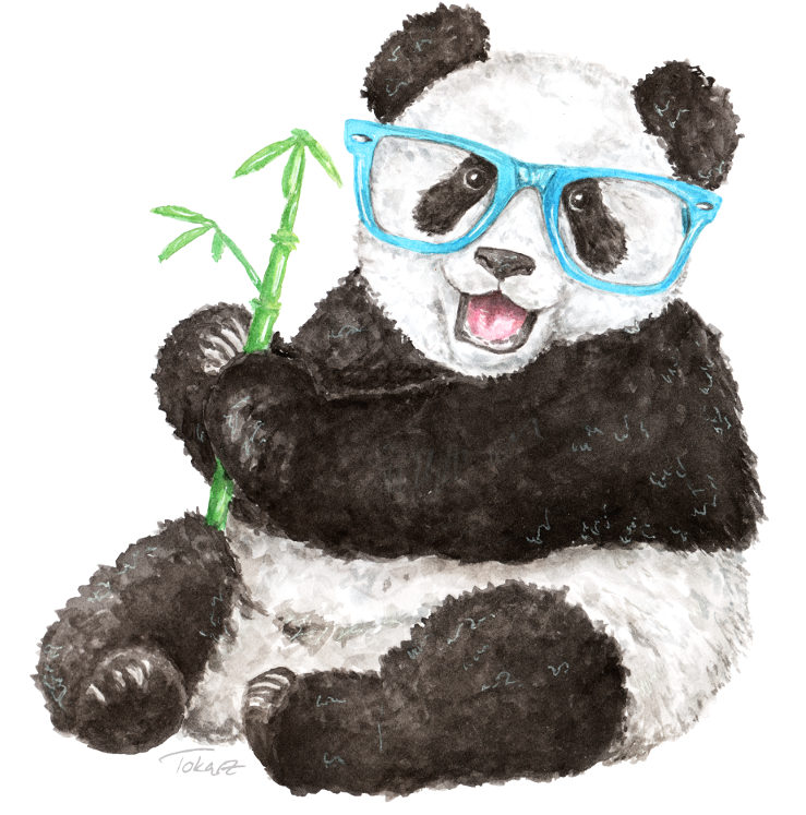 Panda clipart watercolor. Download hd hipster png