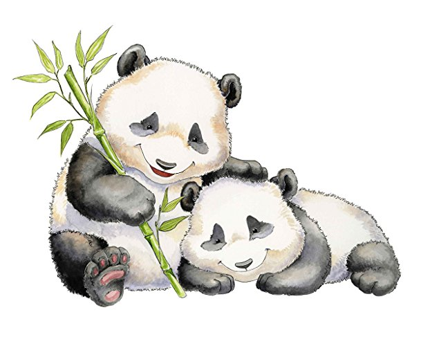 Panda clipart watercolor. Amazon com brothers painting