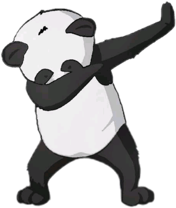 Panda dabbing png. Baby sticker by nyla