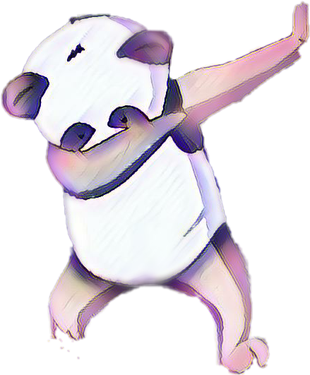 Panda dabbing png. Lit sticker by yazminemccullers