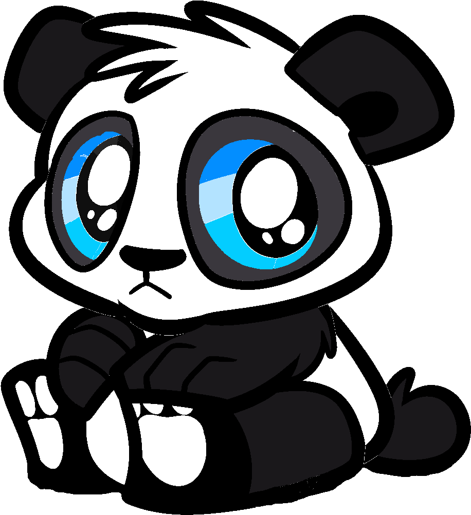 Panda drawing png. Bear cartoon cute images