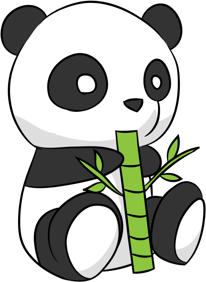 Panda drawing png. Cute illustrations x clipart