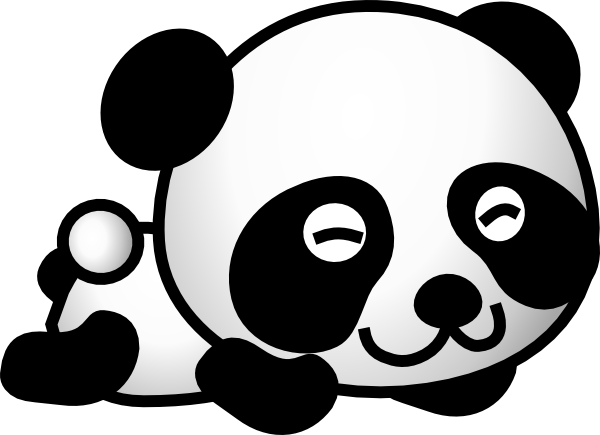 Panda drawing png. Free cute download clip