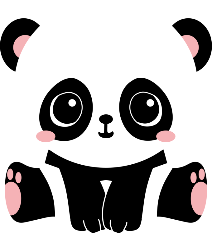 Drawing pandas giant panda. Bear cuteness cartoon free
