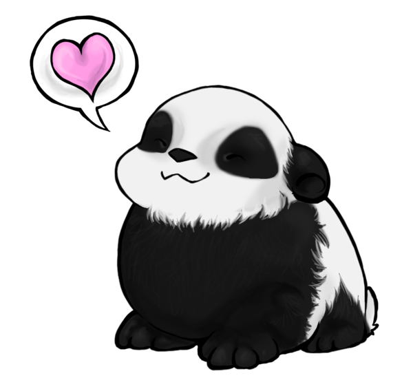 Panda drawing png. Love you long time