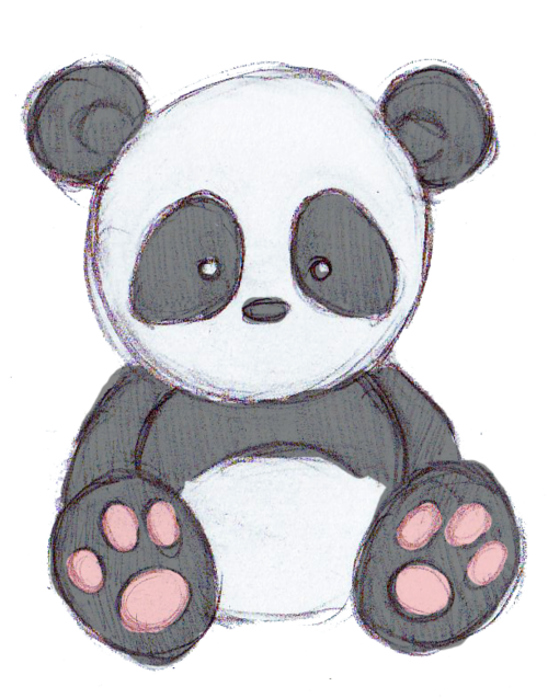 Panda drawing png. Cute tumblr why are