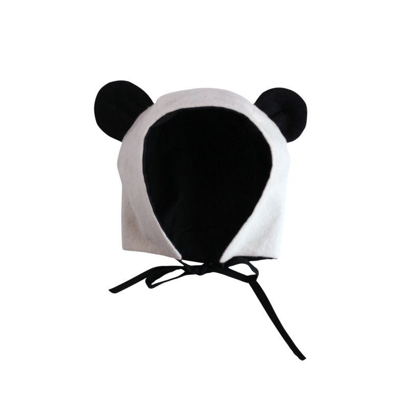 Organic flannel hat www. Panda ears png svg transparent