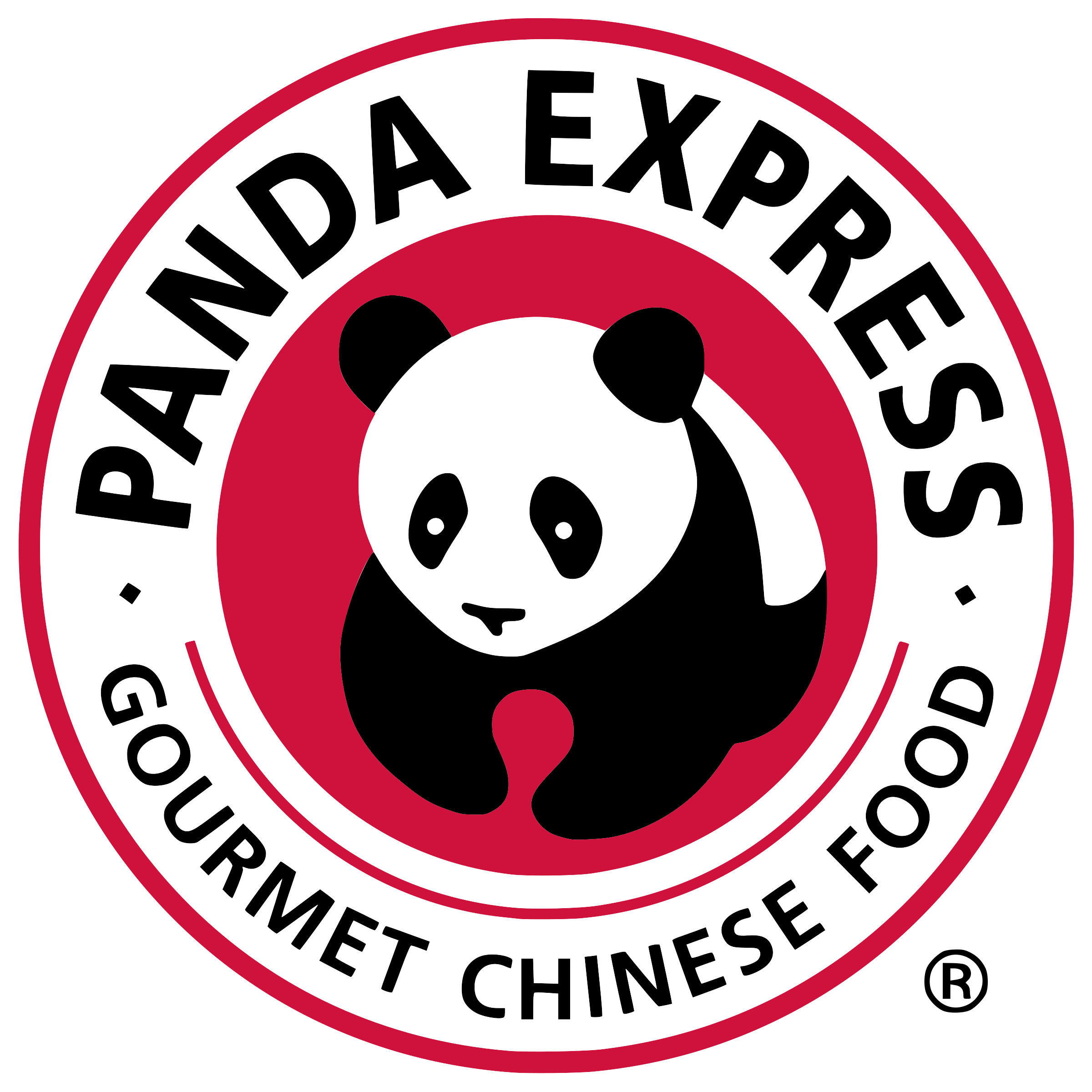 Panda express logo png. Transparent svg vector freebie