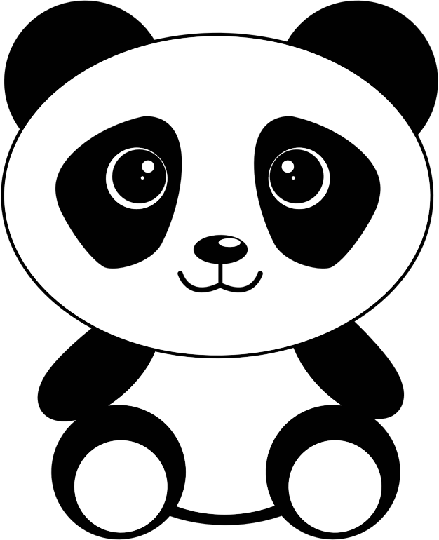 Panda kawaii png. Clipart cute cartoon medium