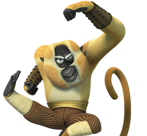 Kung fu panda characters png. Monkey from legends of