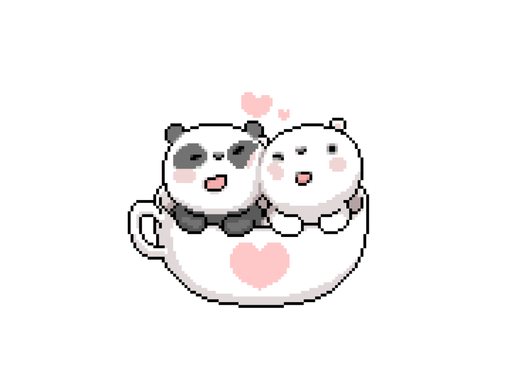 Panda png tumblr. Cute pixel sticker by