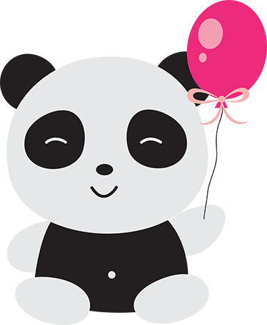 Panda stickers png. With balloon sticker tenstickers