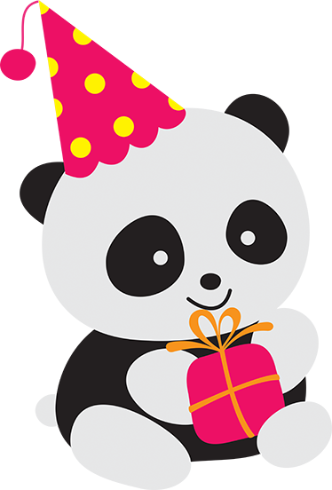 Panda stickers png. Party sticker tenstickers