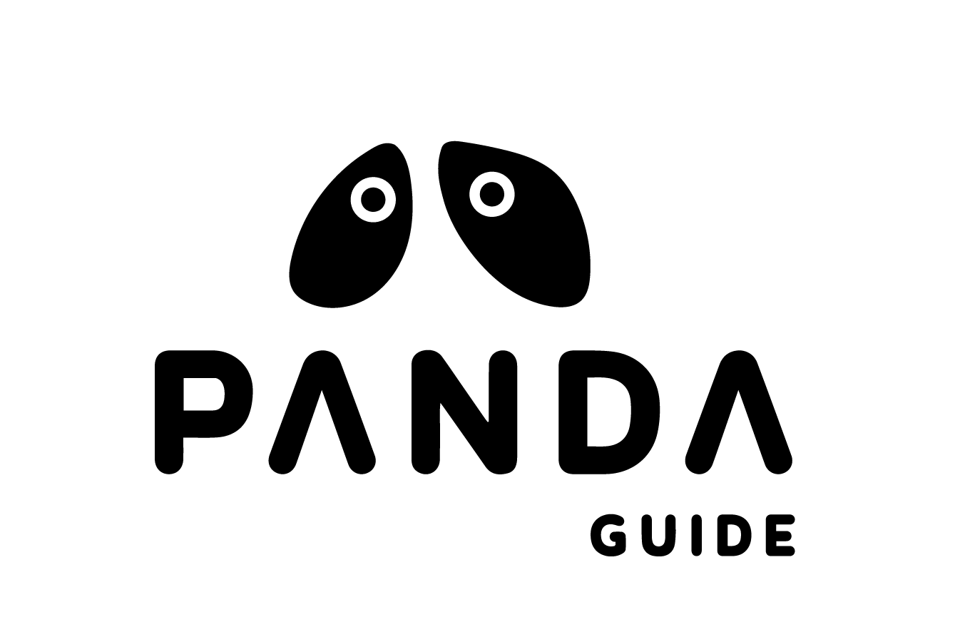 Panda text png. Guide eyes in the
