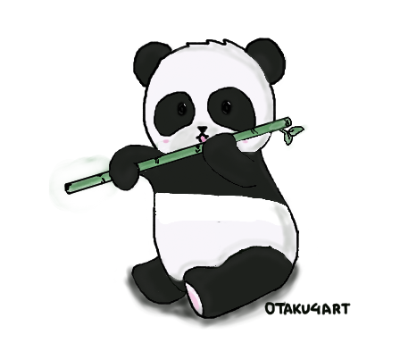 Panda tumblr png. Eating a bamboo transparent