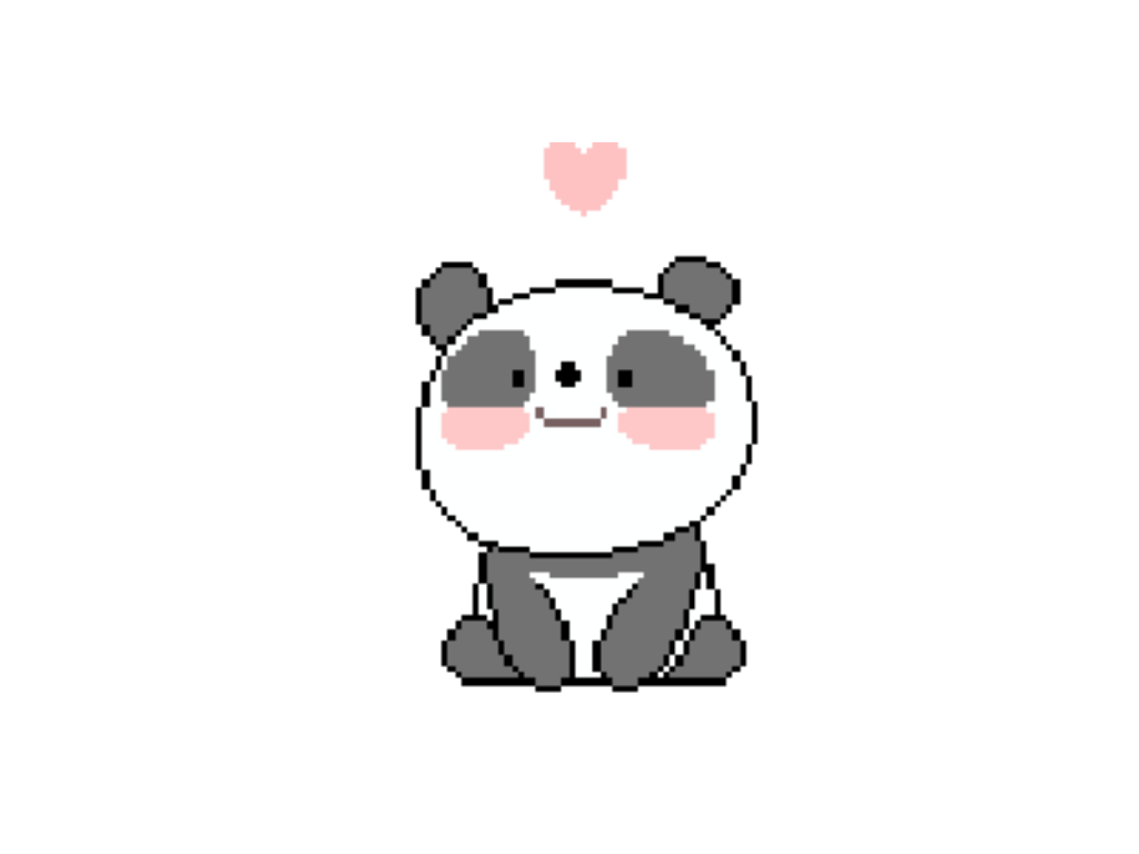 Panda tumblr png. Cute pixel petsandanimals