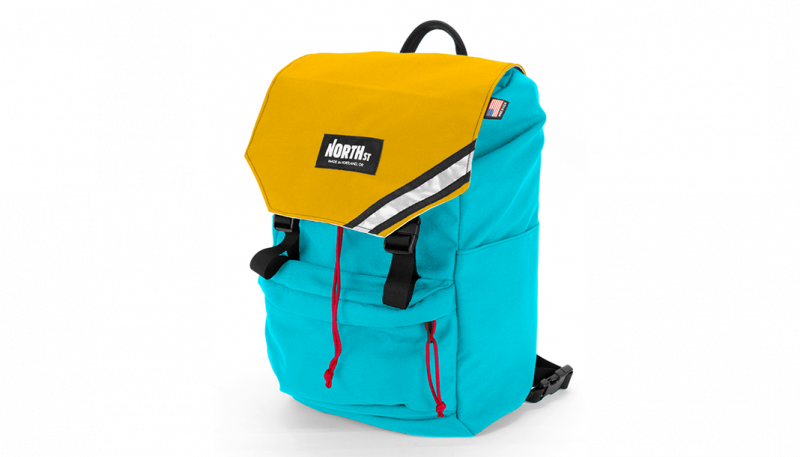 North st morrison backpack. Pannier clip stylish vector stock