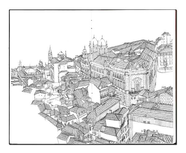 panorama drawing architecture