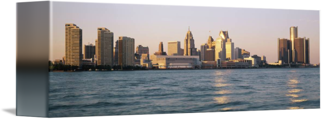 Detroit mi by panoramic. Panorama drawing skyline florence graphic royalty free stock