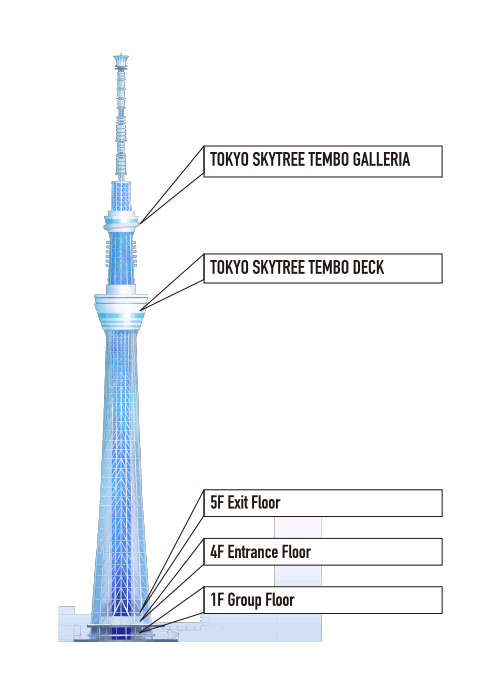 Panorama drawing tokyo. The story of skytree