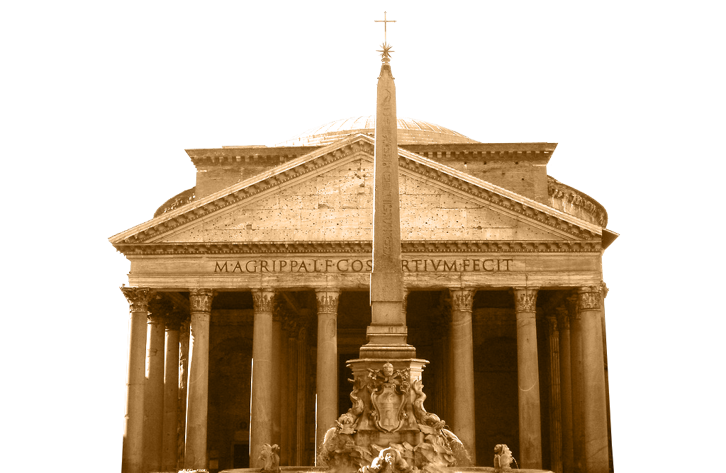 Pantheon drawing roman architecture. Su app store disponibile