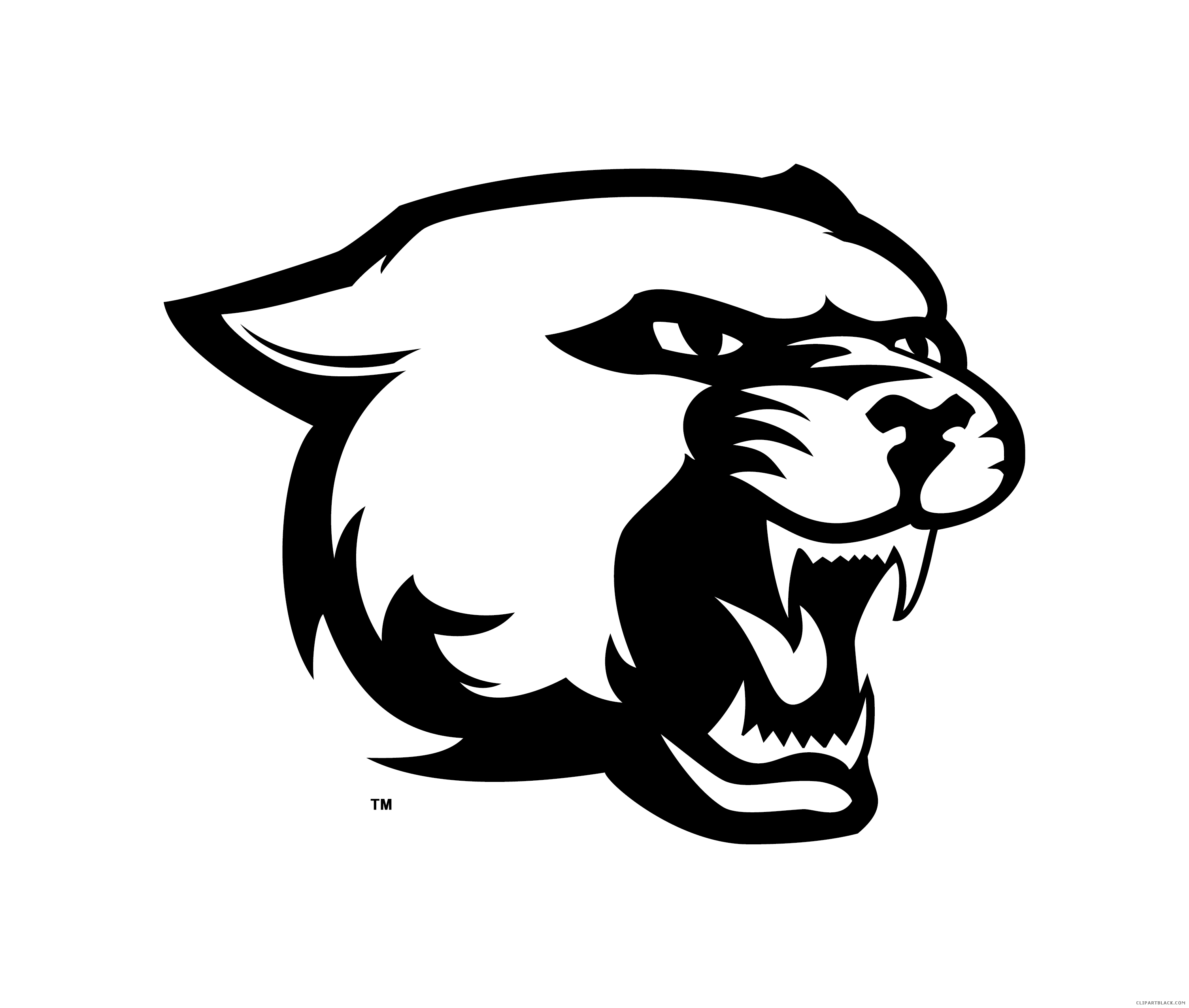 Panther face png. Clipart black and white