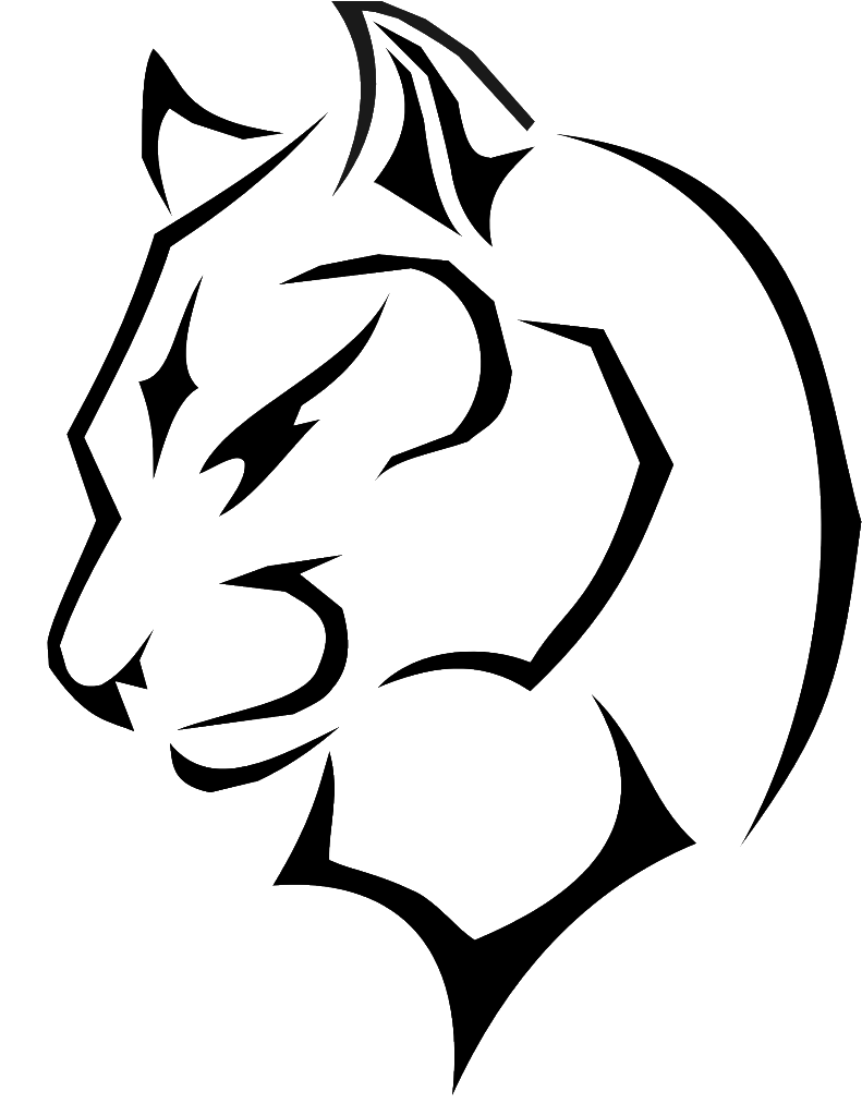 Panther drawing png. Black cougar clip art