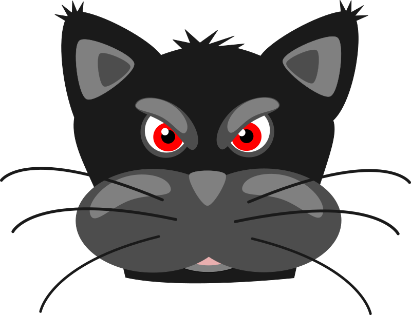 Panther face png. Clipart angry black medium