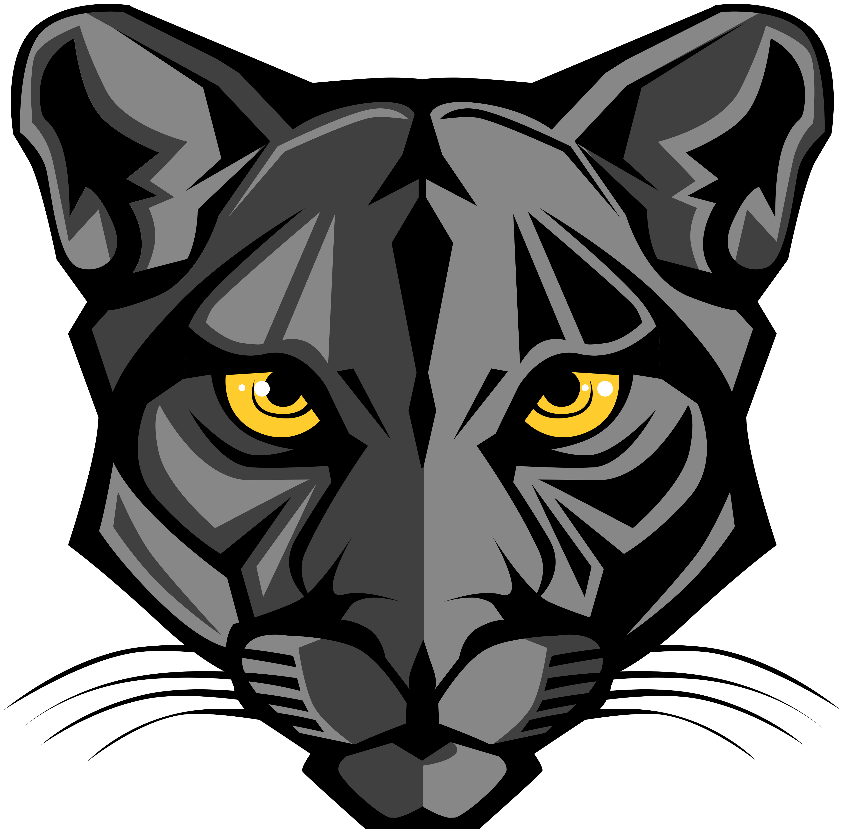 Panther paws png.