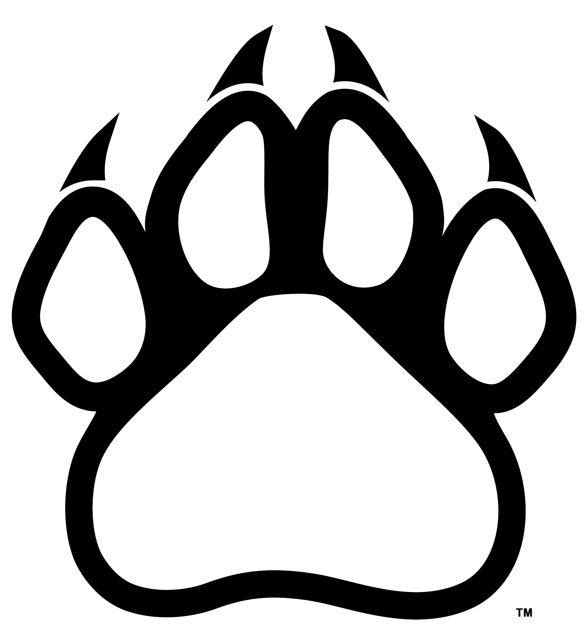 Panther paw print png. Download hd claws clipart