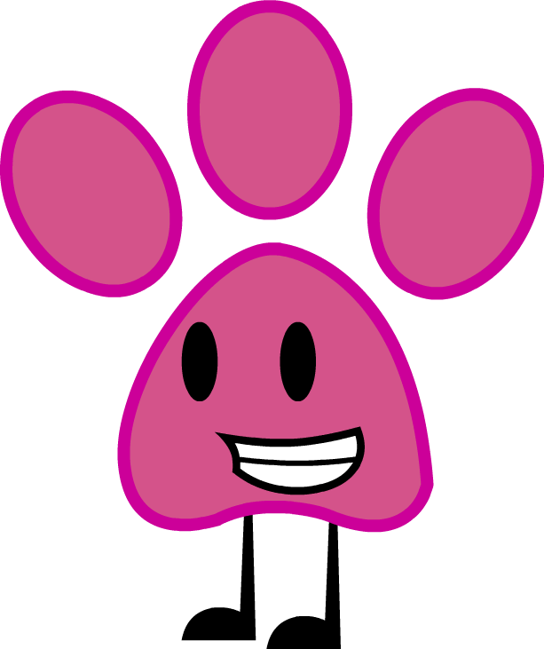 Panther paw print png. Pink commission by kitkatyj