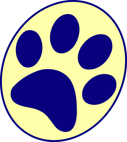 Panther paw print png. Pitt clip art at
