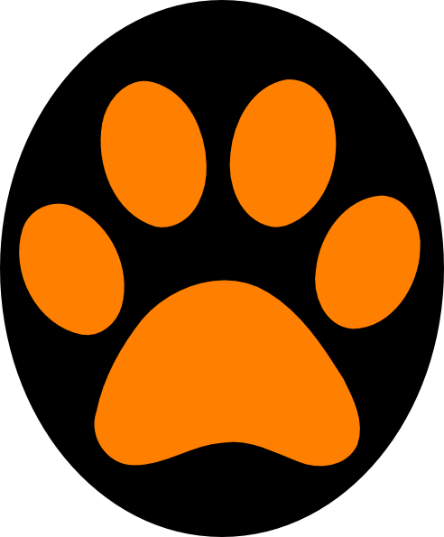 Panther paw prints clipart png. Print clip art at