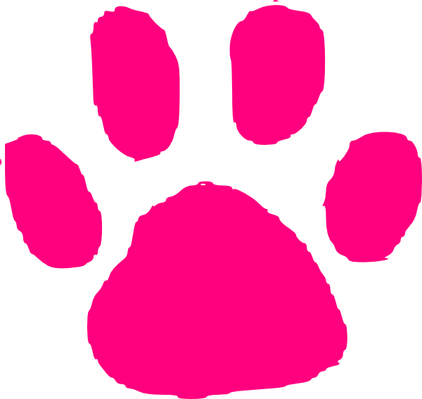 Pink paw print png. Clip art at clker