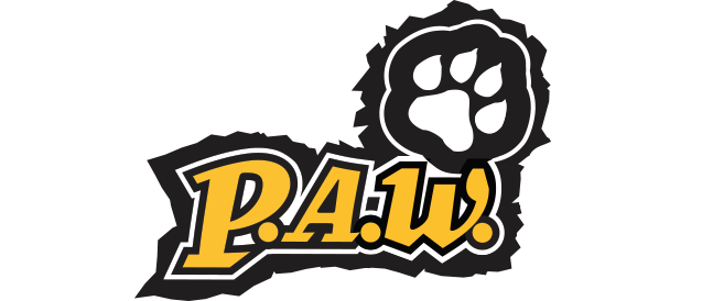 Panther paws png. Academic welcome fall paw