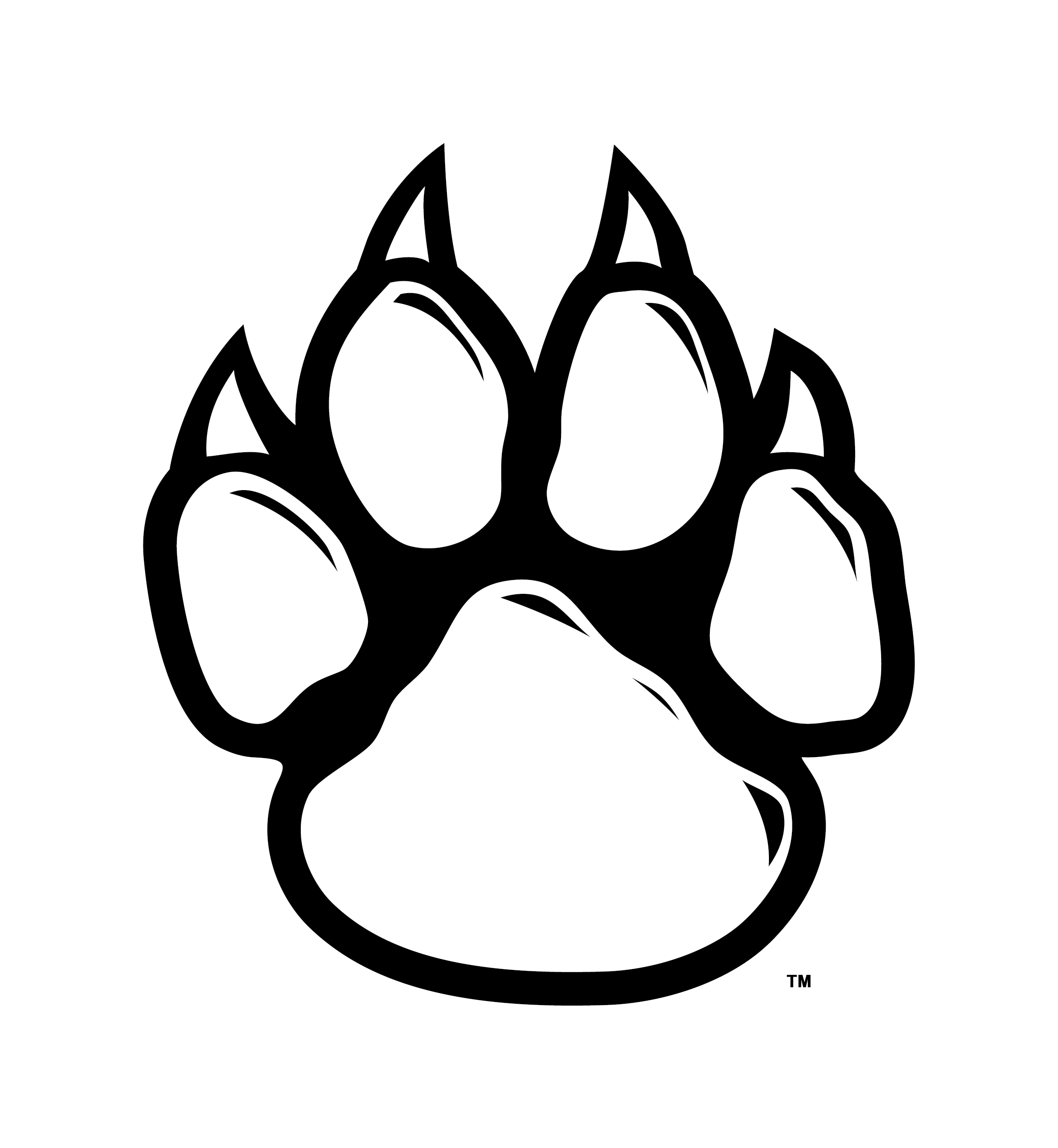 Panther paws png. Collection of paw