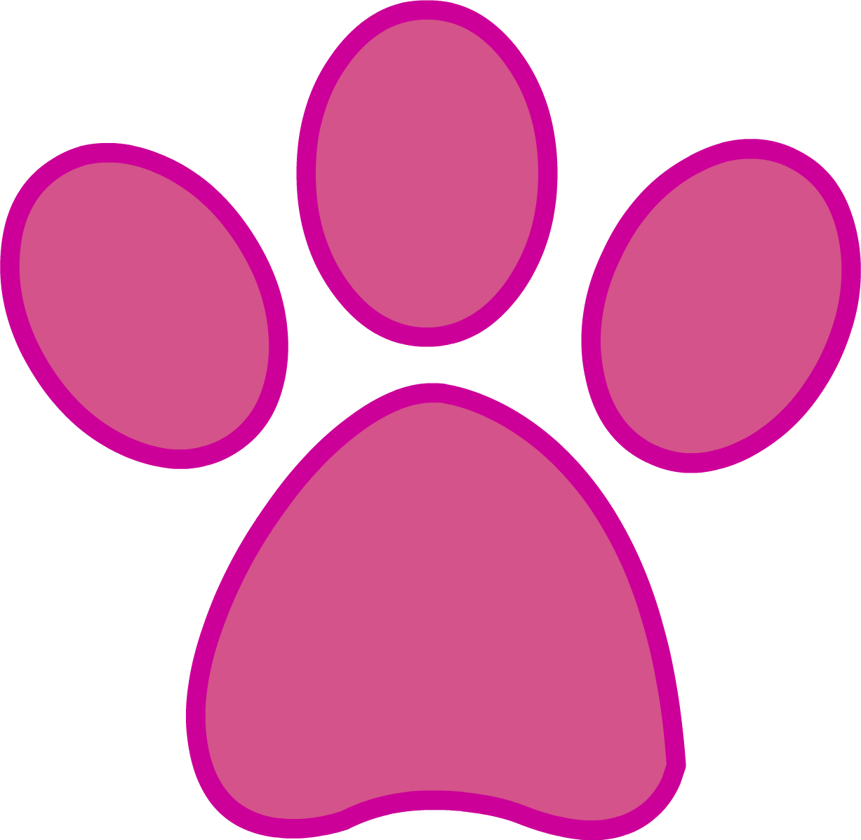 Panther print png. Pink paw commission by