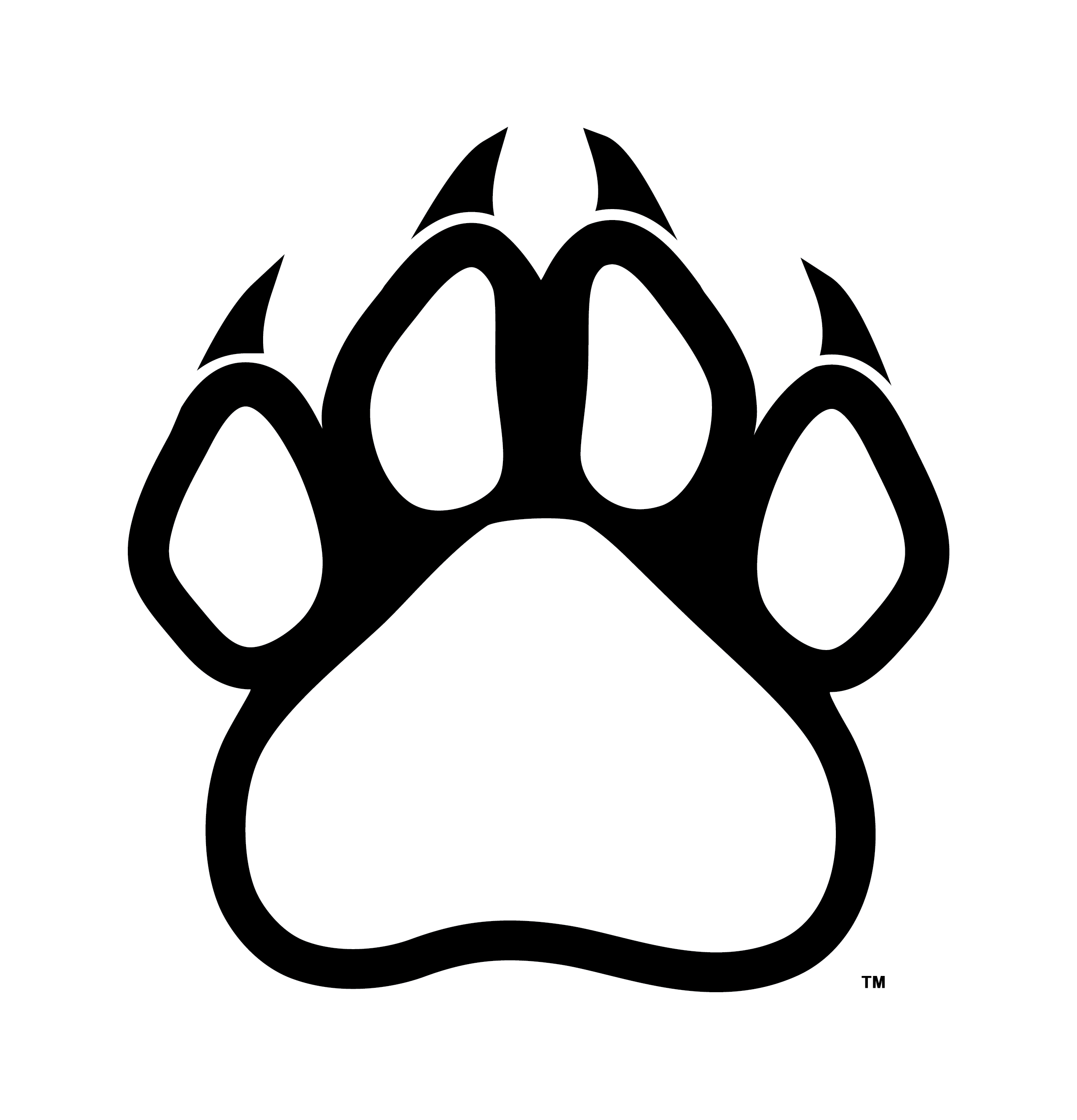 Panther print png. Paw outline clip art