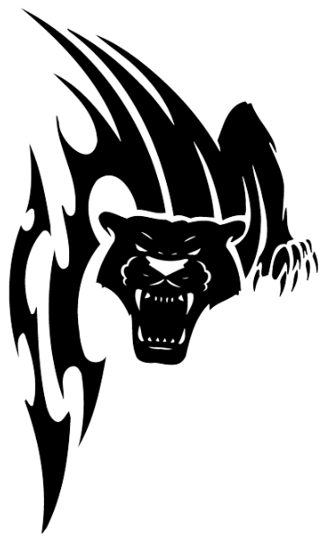 Panther tribal png. Vicious sreaming tattoo design