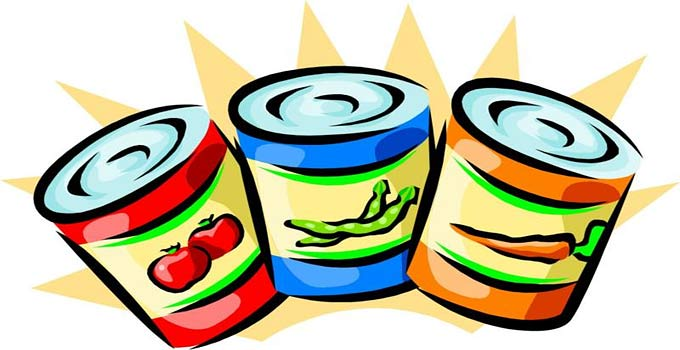 Canned for your deep. Pantry clipart packaged food clipart black and white stock