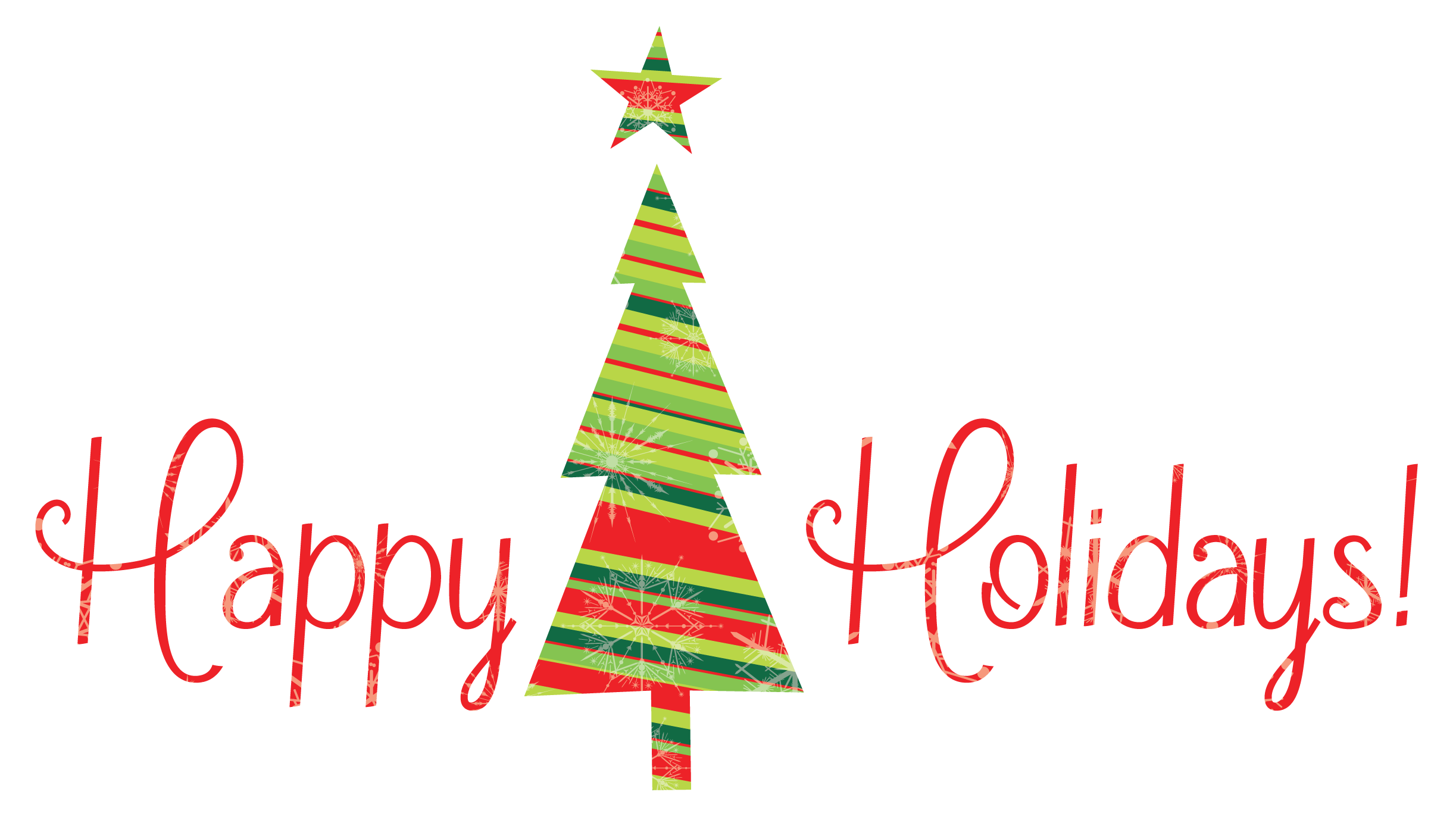happy holidays clipart animated
