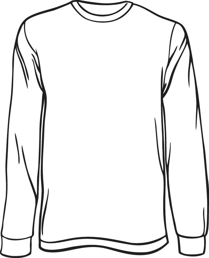 Pants clipart long sleeve shirt. Line drawing at getdrawings