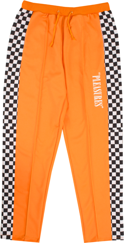 Pants transparent orange. Download sweatpants joggers checkered