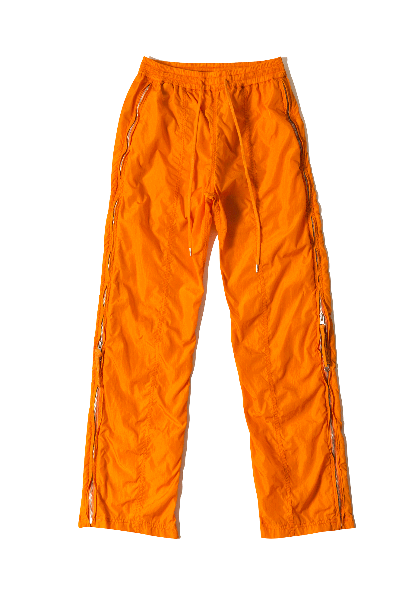 Pants transparent orange. Hidden pocket long pant